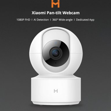 € 23 met coupon voor [Global Version] XIAOMI Mijia IMILAB H.265 1080P 360 ° Nachtversie Smart AI IP Camera Home Babyfoon Pan-tilt Webcam van BANGGOOD