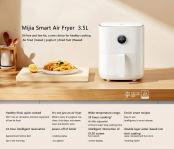 € 74 na may kupon para sa XIAOMI Mijia MAF01 3.5L Smart Air Fryer oven 360 ° Pagbe-bake ng electric air fryer nang walang langis na OLED screen Suporta sa Mijia App Control GLOBAL VERSION mula sa warehouse ng EU na GSHOPPER