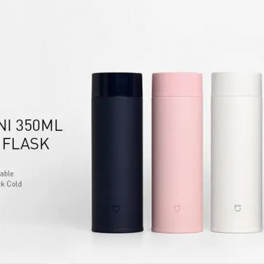 €11 with coupon for XIAOMI Mijia Mini 350ML Vacuum Thermos Bottle Long Lasting Insulation Keep Cold SUS 304 Stainless Steel Vacuum Water Bottles – Black from BANGGOOD