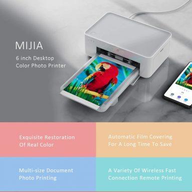 € 115 com cupom para Impressora fotográfica XIAOMI Mijia Remote Control Printing Conexão WIFI sem fio de resolução de alta definição 6 de polegadas