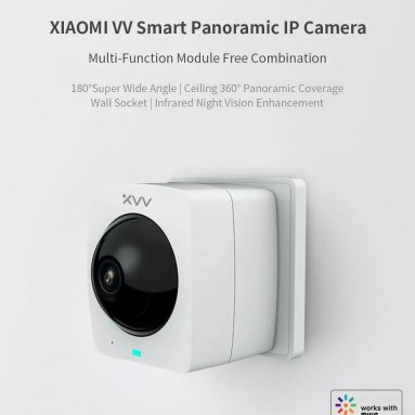 €23 with coupon for XIAOMI Mijia XiaoVV-1120S-A1 Smart Panoramic IP Camera HD 1080P 360° Panoramic AI Humanoid Detection Security Camera Split Screen Infrared Night Vision from BANGGOOD