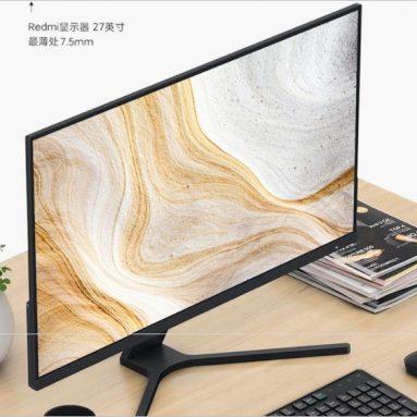 € 195 עם קופון עבור צג המשחקים XIAOMI Redmi 27 אינץ '1080P Full HD 75Hz נתמך 178 ° זווית צפייה אור כחול נמוך מיקרו צד מחשב משחקים דק במיוחד מ BANGGOOD