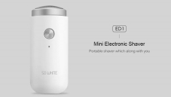 $ 11 con coupon per XIAOMI SO WHITE ED1 Mini Portable Electric Shaver di GEARVITA