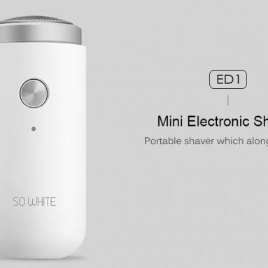 $ 11 med kupon til XIAOMI SO WHITE ED1 Mini Portable Electric Shaver fra GEARVITA