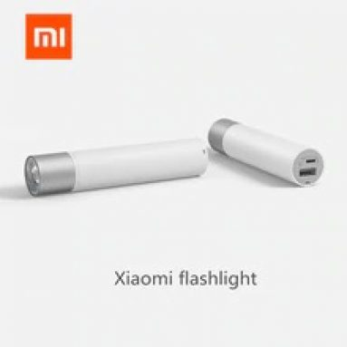 €10 with coupon for XIAOMI SOLOVE X3 USB Rechargeable Brightness EDC Flashlight 3000mAh Power Bank Mini LED Torch Bike Light from GEARVITA