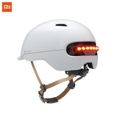€41 with coupon for XIAOMI Smart4U Upgraded SH50 Bike Bicycle Smart Helmet Light Sensing Braking Warning LED Breathable Cycling Helmet – White from BANGGOOD