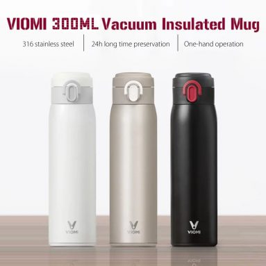 €13 with coupon for XIAOMI VIOMI 300ML Stainless Steel Thermose Double Wall Vacuum Insulated Water Bottle Drinking Cup Drinking Bottle – Black from BANGGOOD