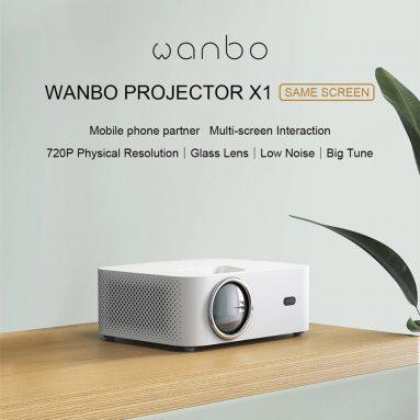€ 83 dengan kupon untuk [Versi Global] XIAOMI Wanbo X1 Telepon Proyektor Layar Yang Sama 1080P Didukung 300 ANSI Lumens Proyeksi Nirkabel Anti-Debu Home Theater Film Luar Ruangan dari BANGGOOD