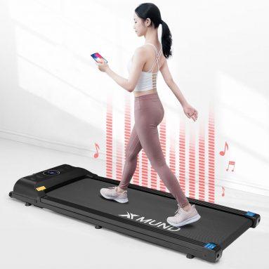 € 160 dengan kupon untuk XMUND® XD-T1 Treadmill Portabel Lipat Walking Pad 12 Gigi Preset Layar LCD Remote Control Bluetooth Speaker Peralatan Fitness Rumah dari gudang CZ Uni Eropa BANGGOOD
