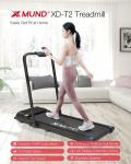 € 246 med kupong för XMUND XD-T2 Löpband 12 km/h Justerbar LCD-display Bluetooth Halkfri Walking Pad Fjärrkontroll Gym Hem Fitnessutrustning från EU PL-lager BANGGOOD