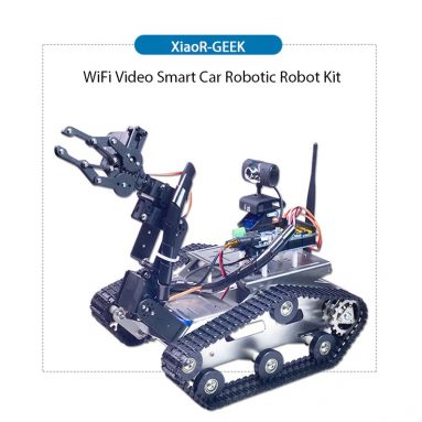 $309 with coupon for XiaoR-GEEK WiFi Bluetooth4.2 Video Smart Car Robotic Robot Kit for Raspberry Pi 3B+ – BLACK A1 STANDARD CLAW ARM from Gearbest