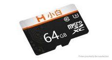 € 10 med kupong for Xiaobai 64GB C10 høyhastighets TF-minnekort for smarttelefon Tablet Bil DVR Drone fra Xiaomi youpin fra BANGGOOD