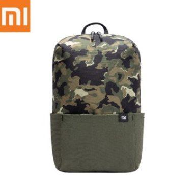 € 9 na may kupon para sa Xiaomi 10L Starry Sky Camouflage Backpack Women Men 10inch Laptop Bag Level 4 Water Repellent Travel Camping Rucksack - Green mula sa BANGGOOD
