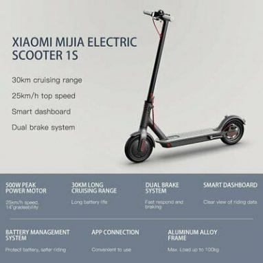 343 € με κουπόνι για το Xiaomi 1S Smart Electric Scooter από την αποθήκη της ΕΕ GSHOPPER (ισχύει για ES FR CZ PL PT)
