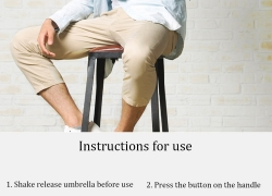 €17 with coupon for Xiaomi 2-3 People 124cm UPF50+ Automatic Umbrella from BANGGOOD