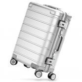 $187 with coupon for Xiaomi 20 inch Metal Travel Suitcase Universal Wheel  –  SILVER from GearBest