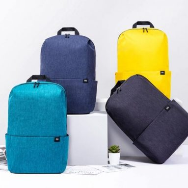 € 13 na may kupon para sa Xiaomi 20L Kulay ng Backpack Bag Babae Lalaki Imbakan ng Water Repellent Home Person backbag mula sa BANGGOOD