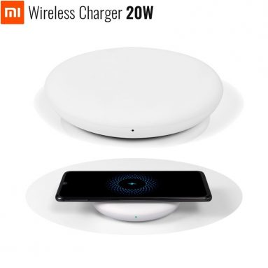 €13 with coupon for Original Xiaomi 20W Fast Charging Qi Wireless Charger for Samsung Xiaomi Mix 2S Huawei from BANGGOOD