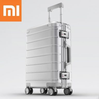 137 € med kupong för Xiaomi 20-tums resväska Män Kvinnor Business Trunk 31L Aluminiumlegering TSA Lock Spinner Wheel Carry On Bagage Case från EU CZ WAREHOUSE BANGGOOD