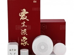 $52 with coupon for Xiaomi 5 in 1 Smart Home Security Kit  –  WHITE from GearBest