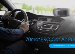 $49 with coupon for Xiaomi 70mai PRO Car Air Purifier from GEARVITA