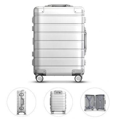 178 s kupónom pre Xiaomi 90FUN 20inch Cestovná batožina 31L TSA Lock hliníková zliatina Spinner Wheel Suitcase na kufri od BANGGOOD
