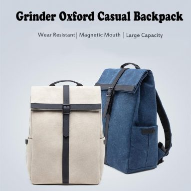 $32 with coupon for Xiaomi 90FUN Grinder Oxford Casual Backpack 15.6 inch Laptop Bag from GEARVITA