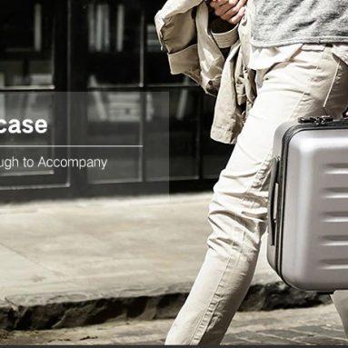 Xiaomi 79FUN पीसी सूटकेस के लिए कूपन के साथ € 90 यूनिवर्सल व्हील के साथ - गियरबेस्ट से काले 20 आईएनसीएच