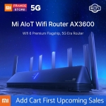 110 € med kupong för Xiaomi AIoT Router AX3600 WiFi 6 2976 Mbps 6 * Antenner 512 MB OFDMA MU-MIMO 2.4G 5G 6 Core Wireless Router från BANGGOOD