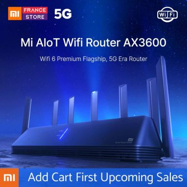 €96 with coupon for Xiaomi AIoT Router AX3600 WiFi 6 2976 Mbps 6*Antennas 512MB OFDMA MU-MIMO 2.4G 5G 6 Core Wireless Router from EU CZ warehouse BANGGOOD
