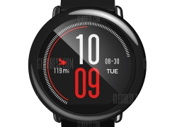 €84 with coupon for Original Xiaomi Huami AMAZFIT Sports Bluetooth Smart Watch  – INTERNATIONAL VERSION BLACK from GearBest