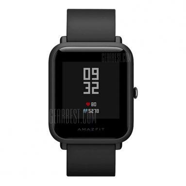 $ 66 presale cho Original Xiaomi AMAZIFT Smartwatch - PHIÊN BẢN TRUNG QUỐC BLACK từ GearBest