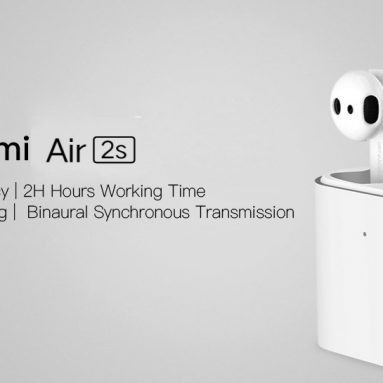 €50 with coupon for Xiaomi Airdots Pro 2S Air 2S TWS bluetooth Earphone LHDC Tap Control Dual MIC ENC QI Wireless Charging Headphone from BANGGOOD