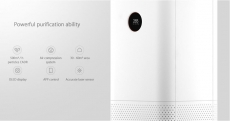 €149 with coupon for Xiaomi Air Purifier Pro Generations Home Sterilization Removal of Formaldehyde Smog and PM2.5 with Laser Particle Sensor OLED Display Screen EU CZ WAREHOUSE from BANGGOOD