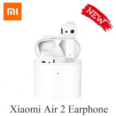 € 45 med kupong for Xiaomi Airdots Pro 2 Bluetooth-øretelefoner TWS Wireless Headset Air 2 - Hvit original fra GEARBEST