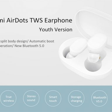$48 with coupon for Xiaomi Airdots TWS Bluetooth 5.0 Earphone Global Version from GearVita