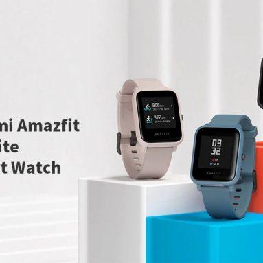 $ 55 với phiếu giảm giá cho Đồng hồ thông minh Xiaomi Amazfit Bip Lite - Đen từ GEARBEST