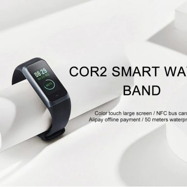 €44 with coupon for Xiaomi Amazfit Cor2 International Version IPS Color Screen 5ATM Heart Rate Sport Mode Long Standby Smart Watch Band from BANGGOOD