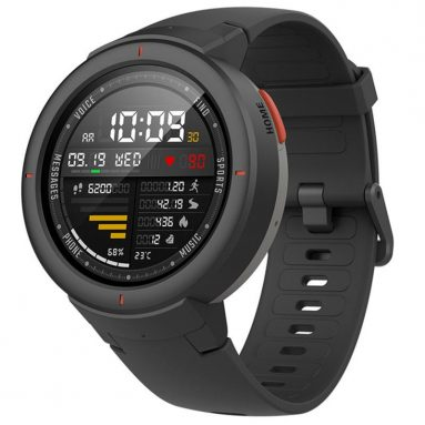 €97 with coupon for Xiaomi Amazfit Verge International Version AMOLED IP68 GPS+GLONASS 5Days Standby Smart Watch from BANGGOOD