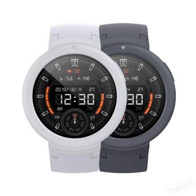 $ 87 may kupon para sa Orihinal Xiaomi Amazfit Verge Lite Wristband GPS + GLONASS 20 Araw Standby AMOLED Kulay ng Screen Smart Watch Gray mula sa BANGGOOD