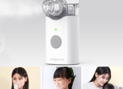 €32 with coupon for Xiaomi Andon Nebulizer Mini Portable Silent Atomizer USB Battery Handheld from BANGGOOD