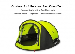 $84 with coupon for Zaofeng Outdoor 3 – 4 People Double-layer Quick-opening Tent from Xiaomi youpin – Clover Green from GearBest