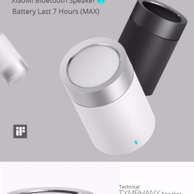 $17 with coupon for Xiaomi Bluetooth Speaker 2 Wireless Hands Free Cylindrical Shape from GEARVITA