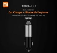 $ 22 kupon ile Xiaomi CooWoo için BC200 2 içinde 1 USB Araç Şarj Cihazı GEARVITA gelen Kablosuz Bluetooth Kulaklık