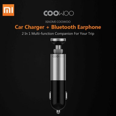 $22 with coupon for Xiaomi CooWoo BC200 2 in 1 USB Car Charger Wireless Bluetooth Earphone from GEARVITA