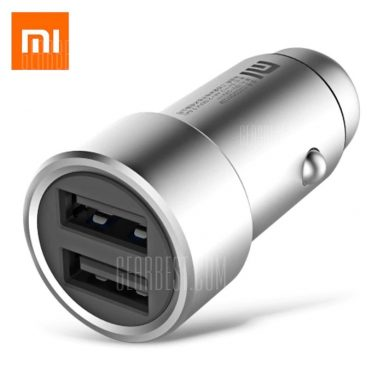 $9 with coupon for Original Xiaomi Fast Charging Car Charger Metal Style  –  SILVER from GearBest