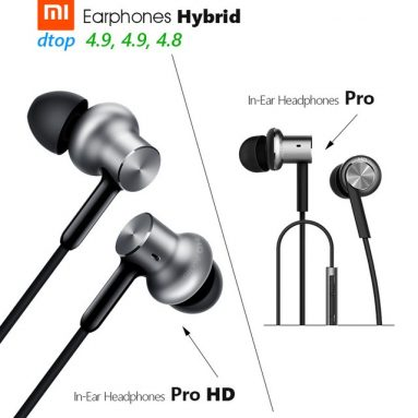 €18 with coupon for Original Xiaomi Hybrid Pro Three Drivers Graphene Earphone Headphone With Mic For iPhone Android – Silver from BANGGOOD