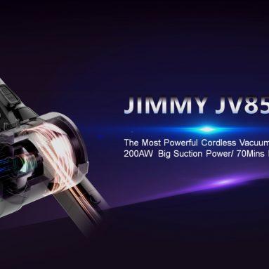 € 257 עם קופון ל- JIMMY JV85 Pro שואב אבק כף יד אלחוטי גמיש 25000Pa יניקה, 200AW יניקה חזקה 70 דקות זמן ריצה תצוגת LED נגד סלילה ממחסן האיחוד האירופי CZ / HK BANGGOOD