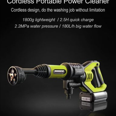$128 with coupon for Xiaomi JIMMY JW31 Lightweight Cordless Pressure Washer Self-priming Faucet Long Cleaning Lance Eco Energy Saving Mode Portable Cleaner Global Version EU GERMANY WAREHOUSE from GEEKBUYING
