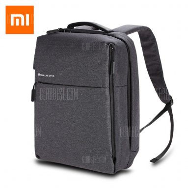 $32 with coupon for Original Xiaomi 14 inch Urban Style Polyester Leisure Backpack  – GRAY from Gearbest